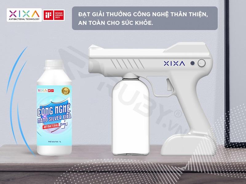 Dung dịch khử khuẩn Nano Bạc và súng phung sương khử trùng Xixa 720