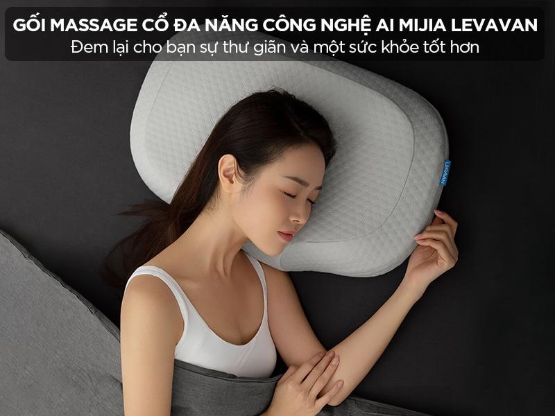 Gối massage cổ đa năng công nghệ AI Mijia Levavan