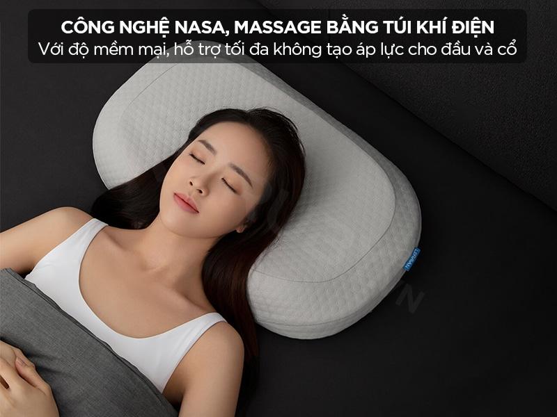 Gối massage cổ công nghệ nasa