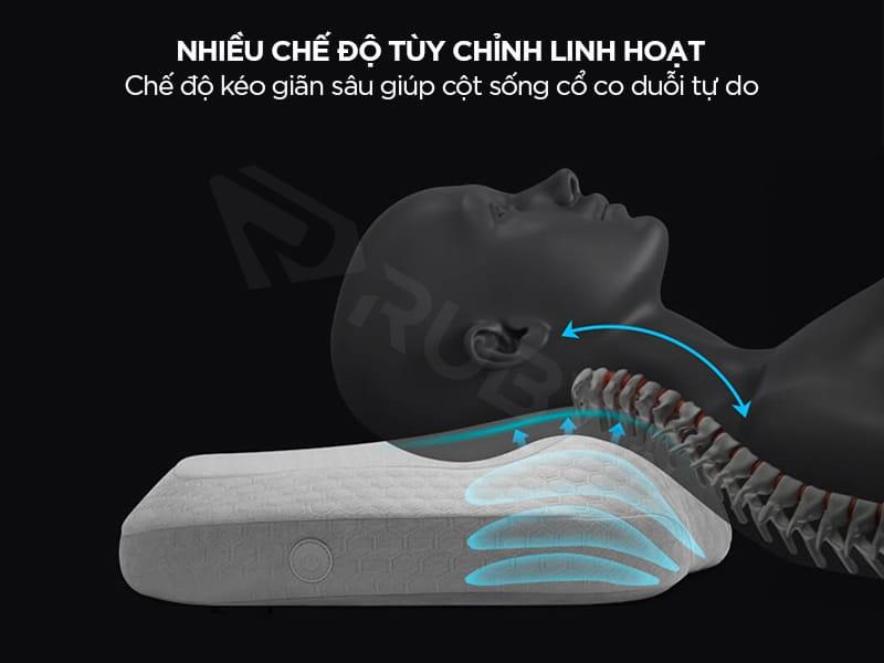 Gối massage công nghệ có nhiều chế độ