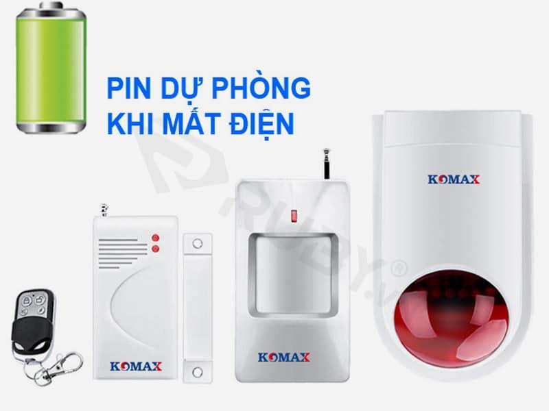 Báo cháy không dây cho gia đình Komax KM-K180