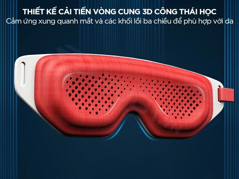 Máy massage mắt Xiaomi thiết kế công thái học