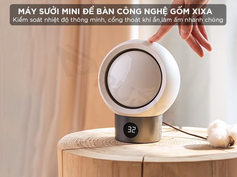 Máy sưởi mini để bàn công nghệ gốm Xixa