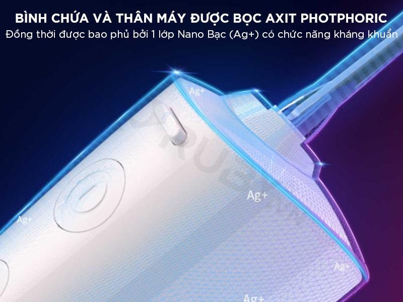 Máy xỉa răng tăm nước có lớp nano bạc