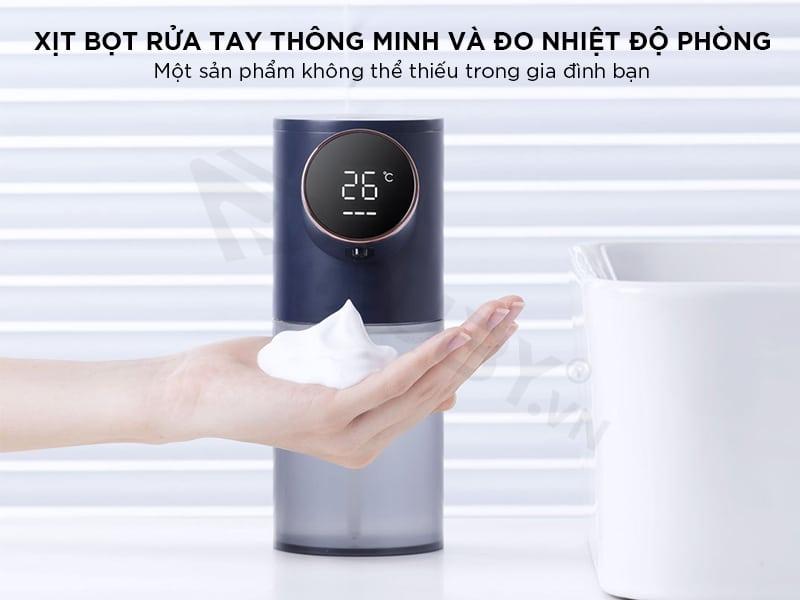 Máy tạo bọt rửa tay tích hợp đo nhiệt độ phòng Xixa