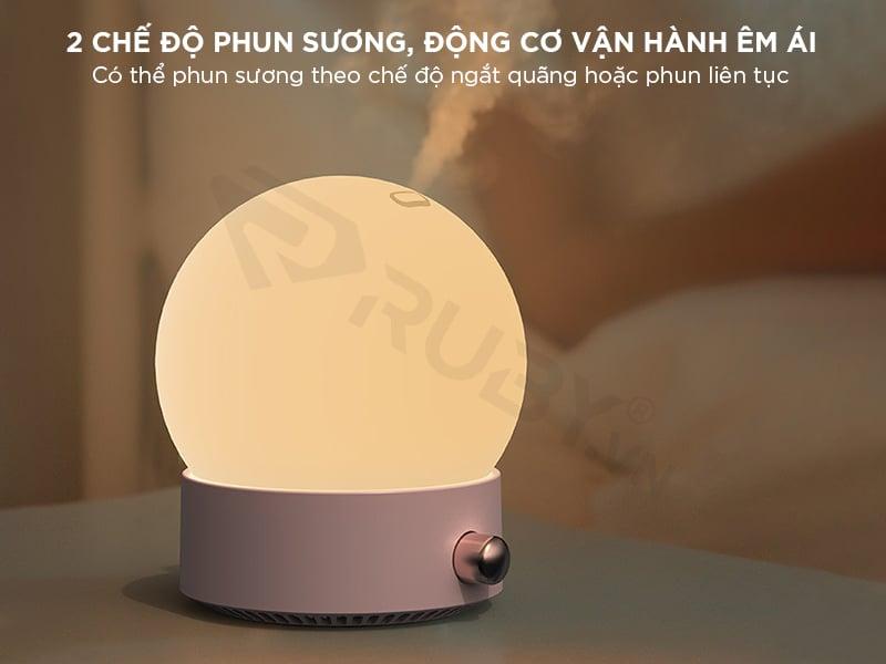 Máy phun sương tạo ẩm mini có 2 chế độ
