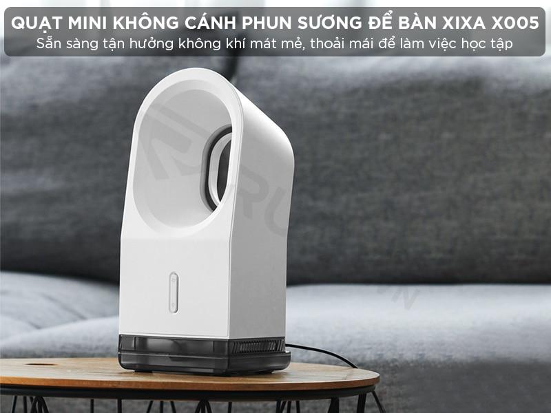 Quạt mini không cánh phun sương để bàn Xixa X005