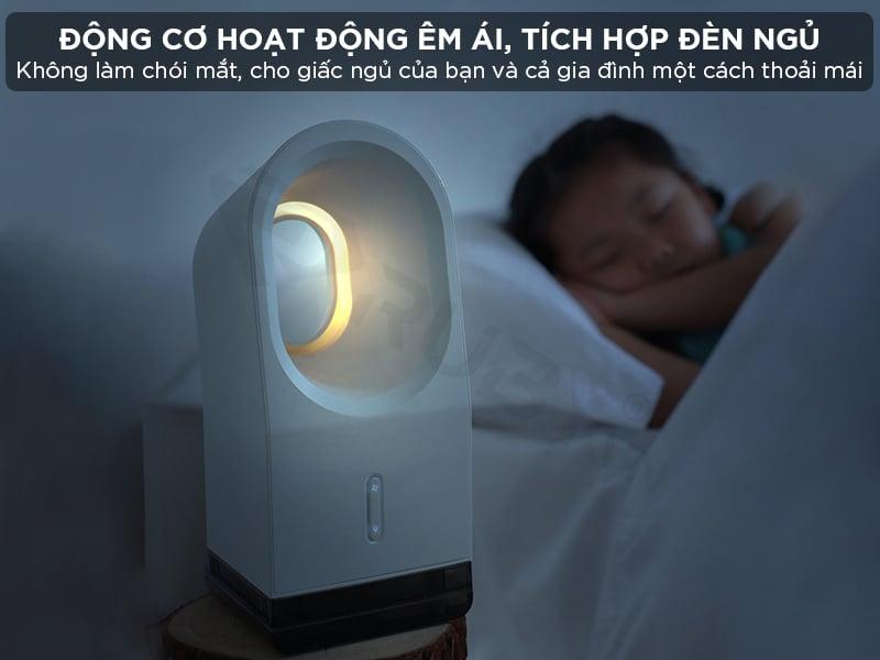 Quạt không cánh mini có đèn ngủ