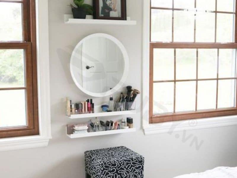 Gương trang điểm treo tường